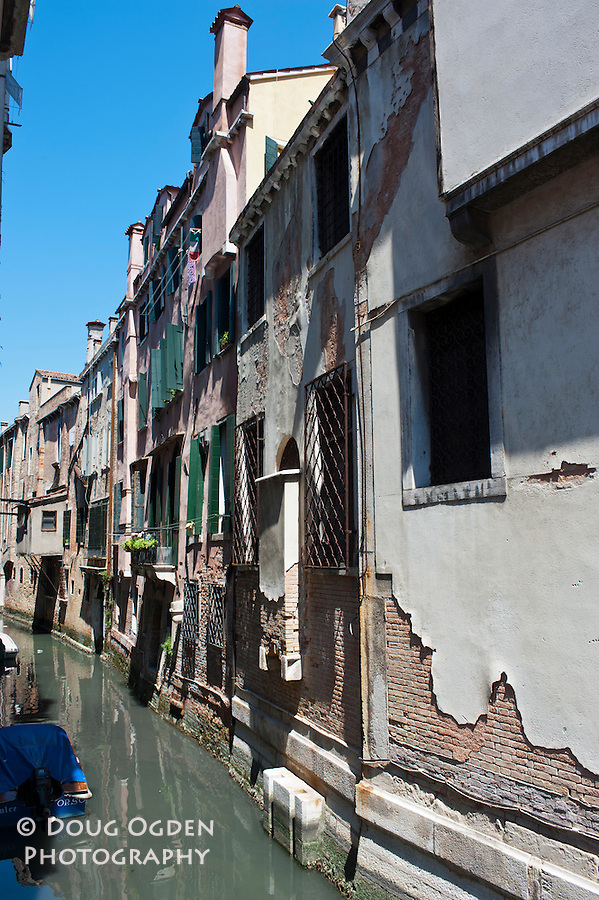 Degradation of buidlings, Venice, Italy