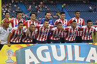 BARRANQUILLA - COLOMBIA - 24 - 03 - 2018: Los jugadores de Atletico Junior, posan para una foto, durante partido de la fecha 10 entre Atletico Junior y Once Caldas por la Liga Aguila I - 2018, jugado en el estadio Metropolitano Roberto Melendez de la ciudad de Barranquilla. / The players of Atletico Junior, pose for a photo, during a match of the 10th date between Atletico Junior and Once Caldas for the Liga Aguila I - 2018 at the Metropolitano Roberto Melendez Stadium in Barranquilla city, Photo: VizzorImage / Alfonso Cervantes / Cont. (BEST AVAILABLE QUALITY)
