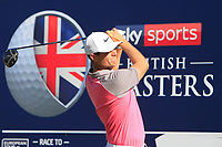 Lucas Bjerregaard (DEN) on the 4th tee during the Pro-Am for the Sky Sports British Masters at Walton Heath Golf Club in Tadworth, Surrey, England on Tuesday 10th Oct 2018.<br />