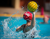 STANFORD, CA - March 23, 2019: Hannah Shabb at Avery Aquatic Center. The #2 Stanford Cardinal took down the #18 Harvard Crimson 20-7.