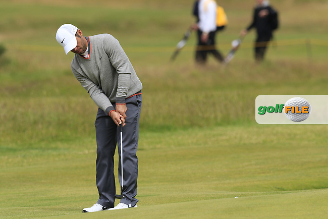 Paul CASEY (ENG) putts during Sunday's Round 3 of the 144th Open Championship, St Andrews Old Course, St Andrews, Fife, Scotland. 19/07/2015.<br /> Picture Eoin Clarke, www.golffile.ie