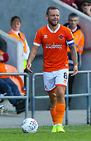 Blackpool's Jay Spearing gestures<br /> <br /> Photographer Alex Dodd/CameraSport<br /> <br /> The EFL Sky Bet League One - Blackpool v MK Dons  - Saturday September 14th 2019 - Bloomfield Road - Blackpool<br /> <br /> World Copyright © 2019 CameraSport. All rights reserved. 43 Linden Ave. Countesthorpe. Leicester. England. LE8 5PG - Tel: +44 (0) 116 277 4147 - admin@camerasport.com - www.camerasport.com