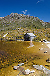The boatshed on Dove Lake at Cradle Mountain in Tasmania, Australia