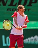 Netherlands, Rotterdam August 08, 2015, Tennis,  National Junior Championships, NJK, TV Victoria, Amadatus Admiraal<br /> Photo: Tennisimages/Henk Koster