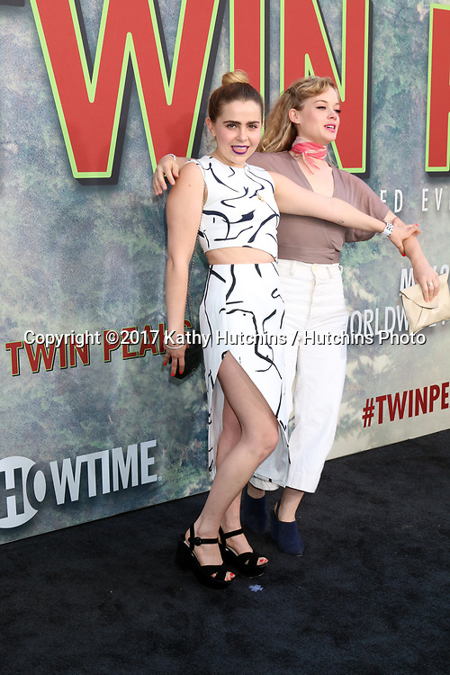 """LOS ANGELES - MAY 19:  Mae Whitman, Jane Levy at the """"Twin Peaks"""" Premiere Screening at The Theater at Ace Hotel on May 19, 2017 in Los Angeles, CA"""