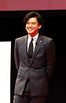 "December 5 2017, Tokyo, Japan - Japanese actor Shun Oguri attend sa promotinal event of Japanese electronics giant Fujitsu's smartphone ""arrows NX F-01K"" in Tokyo, on Tuesday, December 5, 2017.      (Photo by Yoshio Tsunoda/AFLO) LWX -ytd-"