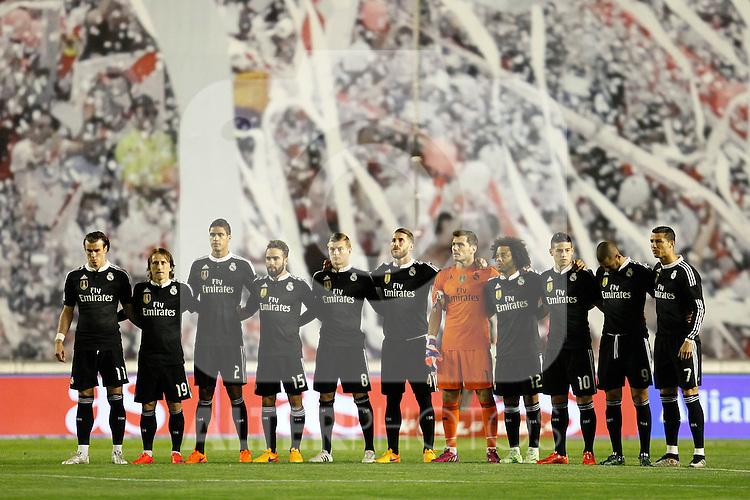 Real Madrid during La Liga match between Rayo Vallecano and Real Madrid at Vallecas Stadium in Madrid, Spain. April 08, 2015. (ALTERPHOTOS/Caro Marin)