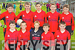 Kenmare National School Team under 12 team Primary Schools Football Finals at Austin Stack park on Thursday, Front Row from left, Ciaran O'Sullivan, William Sheehy, William Gudgeon, Jordan Smith and Dillon O'Connor. Back row from left: Tom Looney, Joseph Doyle, Chris O'Sullivan, Denny Cronin and Simon O'Shea.