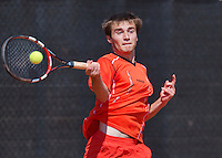 August 9, 2014, Netherlands, Rotterdam, TV Victoria, Tennis, National Junior Championships, NJK,  Guy den Heijer (NED)<br /> Photo: Tennisimages/Henk Koster