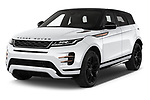2019 Land Rover Range-Rover-Evoque Dynamic 5 Door SUV Angular Front stock photos of front three quarter view