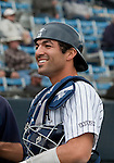 March 29, 2012: Nevada Wolf Pack catcher Carlos Escobar Jr. during their NCAA baseball game against the BYU Cougars played at Peccole Park on Thursday afternoon in Reno, Nevada.