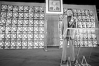 November 15, 1976 file photo - Montreal (QC) CANADA -<br /> <br /> Parti Quebecois win the provincial 1976 election at Centre Paul Sauve : Doris Lussier