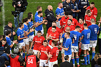 Italian players salute Wales players at the end of the match <br /> Roma 9-02-2019 Stadio Olimpico<br /> Rugby Six Nations tournament 2019  <br /> Italy - Wales <br /> Foto Andrea Staccioli / Resini / Insidefoto