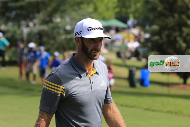 Dustin Johnson (USA) walks to the 16th tee during Saturday's Round 3 of the 2017 PGA Championship held at Quail Hollow Golf Club, Charlotte, North Carolina, USA. 12th August 2017.<br /> Picture: Eoin Clarke | Golffile<br /> <br /> <br /> All photos usage must carry mandatory copyright credit (&copy; Golffile | Eoin Clarke)