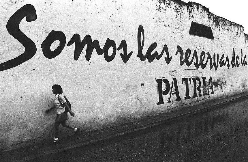 'Somos las reservas de la PATRIA.'  Matanzas, Cuba.
