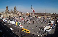 Zocalo Mexico City aerial photograph