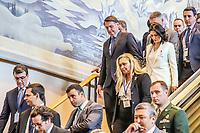 NOVA YORK, EUA, 24.09.2019 - ONU-EUA - Presidente brasileiro Jair Bolsonaro acompanhado de sua esposa Michele Bolsonaro durante da 74ª Assembleia Geral da Organização das Nações Unidas (ONU) em Nova York nos Estados Unidos nesta terça-feira, 24. (Foto: Vanessa Carvalho/Brazil Photo Press/Folhapress)