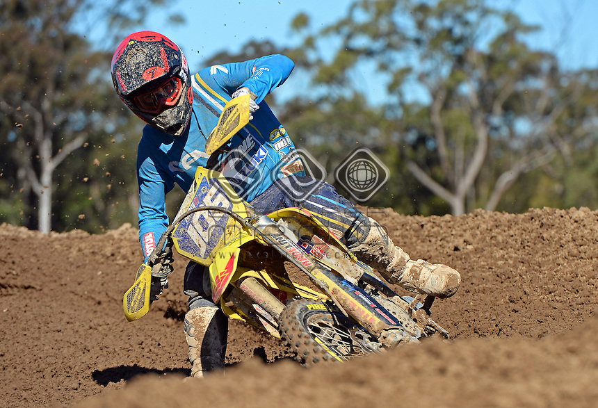 Jesse Madden / Suzuki<br /> MX Nationals / Round 6 / MXD<br /> Australian Motocross Championships<br /> Raymond Terrace NSW<br /> Sunday 5 July 2015<br /> &copy; Sport the library / Jeff Crow