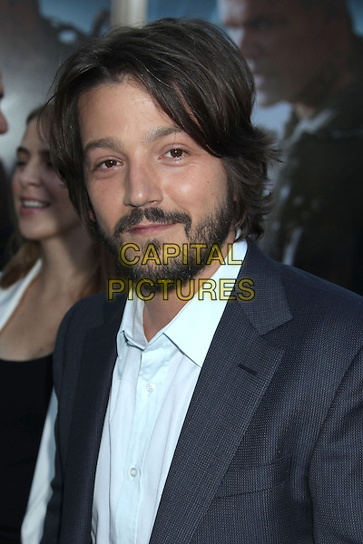 Diego Luna<br /> &quot;Elysium&quot; Los Angeles Premiere held at the Regency Village Theatre, Westwood, California, UK,<br /> 7th August 2013.<br /> portrait headshot beard facial hair  grey gray <br /> CAP/ADM/RE<br /> &copy;Russ Elliot/AdMedia/Capital Pictures