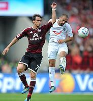 FUSSBALL   1. BUNDESLIGA  SAISON 2011/2012   2. Spieltag 1 FC Nuernberg - Hannover 96          13.08.2011 Markus Feulner (li, 1 FC Nuernberg) gegen Sofian Chahed (re, Hannover 96)