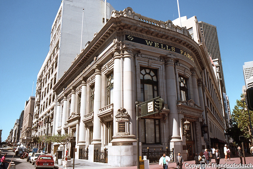 San Francisco:  Wells Fargo Bank, Market St.   Photo '89.
