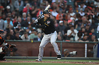 SAN FRANCISCO, CA - AUGUST 11:  David Freese #23 of the Pittsburgh Pirates bats against the San Francisco Giants during the game at AT&T Park on Saturday, August 11, 2018 in San Francisco, California. (Photo by Brad Mangin)