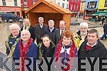 Pictured in the Square, Tralee on Tuesday where a Christmas market is being constructed are Front from left Danny Leane, Joe Vesey, Claire Leahy, Brenda Conway and Murt Quirke..Back from left Der O'Sullivan, David Fitzgerald, John Walsh, John Griffin and Johnny Wall.