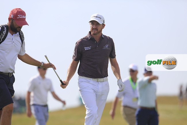 Jimmy Walker (USA) on the 7th hole during Wednesday's Practice Day of the 117th U.S. Open Championship 2017 held at Erin Hills, Erin, Wisconsin, USA. 14th June 2017.<br /> Picture: Eoin Clarke | Golffile<br /> <br /> <br /> All photos usage must carry mandatory copyright credit (&copy; Golffile | Eoin Clarke)