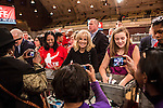 Dr. Jill Biden, center, wife of Vice President Joseph R. Biden, participates in the National Day of Service at the Unite America in Service event at the DC Armory on Saturday, January 19, 2013 in Washington, DC.