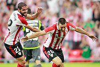 Athletic Club de Bilbao's Raul Garcia (l) and Aritz Aduriz celebrate goal during Europa League Third Qualifying Round, 2nd leg. April 5,2012. (ALTERPHOTOS/Acero) /NortePhoto.com