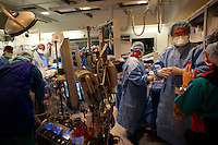 Los Angeles, California, May 14, 2012 - Patient Robert Noonan undergoes a Transcatheter Aortic Valve Replacement (TAVR) under the direction of Raj Makkar, MD, Director, Interventional Cardiology at Cedar-Sinai Heart Institute. Dr. Makkar is testing this non-surgical procedure on intermediate risk patients. Typically valve replacement requires open-heart surgery. ..