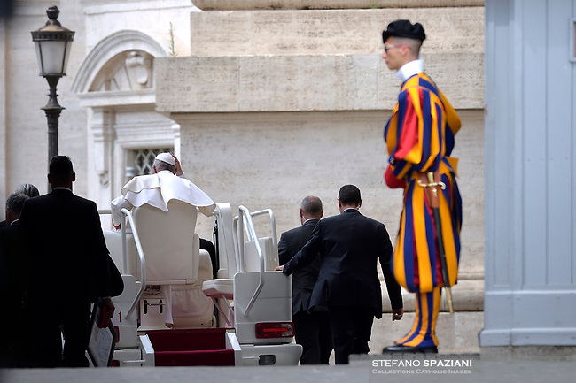 Pope Francis during of a weekly general audience at St Peter's square in Vatican, Wednesday.May 22, 2019