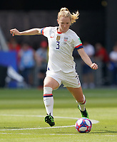 DECINES-CHARPIEU, FRANCE - JULY 07: Samantha Mewis #3 during the 2019 FIFA Women's World Cup France Final match between Netherlands and the United States at Groupama Stadium on July 07, 2019 in Decines-Charpieu, France.