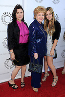 27 December 2016 - Carrie Fisher, the iconic actress who portrayed Princess Leia in the Star Wars series, died Tuesday following a massive heart attack. Carrie Frances Fisher an American actress, screenwriter, author, producer, and speaker, was the daughter of singer Eddie Fisher and actress Debbie Reynolds. File Photo: 7 June 2011 - Beverly Hills, California - Carrie Fisher, Debbie Reynolds and Billie Lourd. Debbie Reynolds' Hollywood Memorabilia Exhibit Reception Presented by Turner Classic Movies and The Paley Center for Media held at The Paley Center. Photo Credit: Byron Purvis/AdMedia