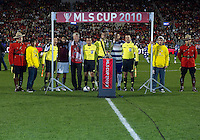 21 November 2010: Opening Ceremonies during the 2010 MLS Cup Final between the Colorado Rapids and FC Dallas at BMO Field in Toronto, Ontario Canada...