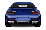 Straight rear view of a 2019 Mercedes Benz AMG-GT 63-S 5 Door Hatchback stock images