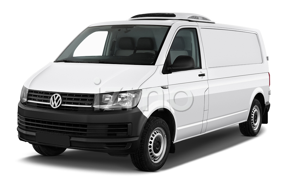 2018 Volkswagen Transporter Base 4 Door Pick Up angular front stock photos of front three quarter view