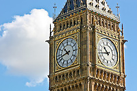 A view of the clock of Big Ben in London