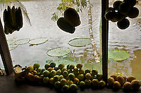 Kitchen scene at Lake Marasha near Peru Colombia Border - Amazonas - Peru
