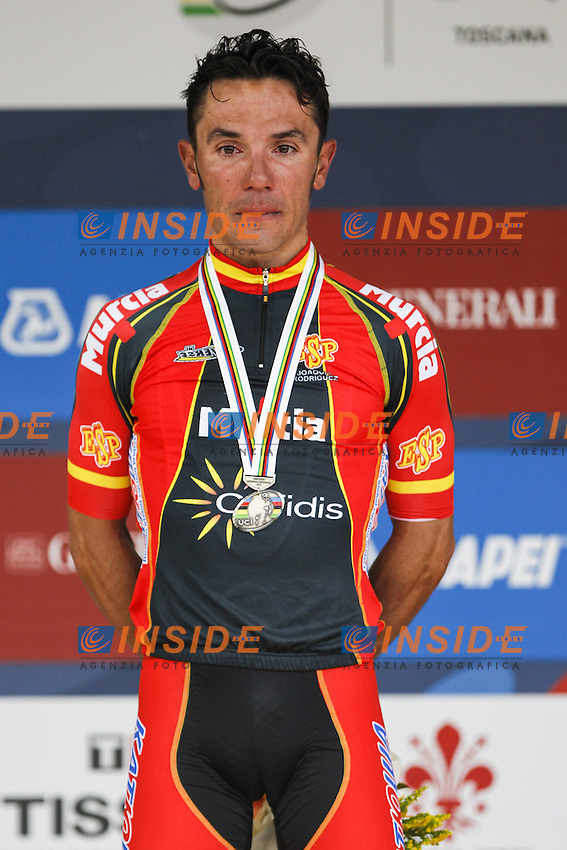 Silver medallist Spain's Joaquim Rodriguez<br /> Men's elite road race at the UCI Road World Championships in Florence September 29, 2013 <br /> Firenze 29/9/2013 <br /> Mondiali Ciclismo Strada Pro <br /> Foto Serlingen / Insidefoto