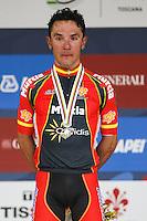 Silver medallist Spain's Joaquim Rodriguez<br /> Men's elite road race at the UCI Road World Championships in Florence September 29, 2013 <br /> Firenze 29/9/2013 <br /> Mondiali Ciclismo Strada Pro <br /> Foto Serlingen / Insidefoto