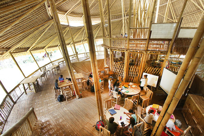 &quot;Heart of School&quot; Final year students during open plan classroom study period<br />