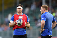Francois Louw of Bath Rugby looks on during the pre-match warm-up. European Rugby Champions Cup match, between Bath Rugby and Benetton Rugby on October 14, 2017 at the Recreation Ground in Bath, England. Photo by: Patrick Khachfe / Onside Images