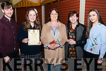 l-r Eoin Foran, Clodagh O'Connor, Dolores O'Connor, Mary Foran and Ciara O'Connor (all from Killarney) pictured at Rotary Club Killarney Young Musician of the Year finals in the INEC Acoustic Club, Killarney last Saturday night.