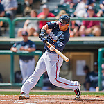 14 March 2016: Atlanta Braves infielder Jace Peterson in action during a Spring Training pre-season game against the Tampa Bay Rays at Champion Stadium in the ESPN Wide World of Sports Complex in Kissimmee, Florida. The Braves shut out the Rays 5-0 in Grapefruit League play. Mandatory Credit: Ed Wolfstein Photo *** RAW (NEF) Image File Available ***