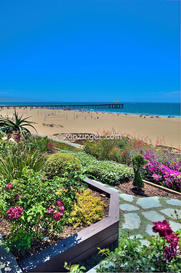 Manhattan, Beach, CA, Walk, Street, Sand Section,