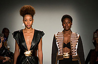 NEW YORK, NY- SEPTEMBER 6: ModelS display creations of Seta Apparel show during the New York Fashion Week at Pier 59 studios on September 6, 2019 in New York City. (Photo by Pablo Monsalve / VIEWpress )