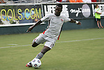 03 July 2012: Atlanta's Borfor Carr (LBR). The Carolina RailHawks defeated the Atlanta Silverbacks 2-1 at WakeMed Soccer Stadium in Cary, NC in a 2012 North American Soccer League (NASL) regular season game.