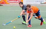 DEN HAAG - Mirco Pruyser  met Gonzalo Peillat tijdens  de trainingswedstrijd hockey Nederland-Argentinie (1-2). COPYRIGHT KOEN SUYK