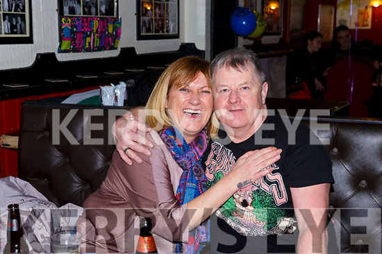 Enjoying a night out in Turners Bar on Saturday night last are Denise Kelly and Johnny O'Brien from Tralee.